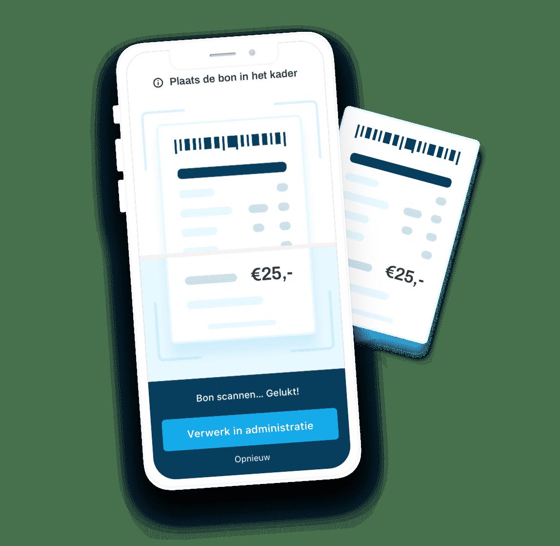 Bonnetjes inscannen met de app