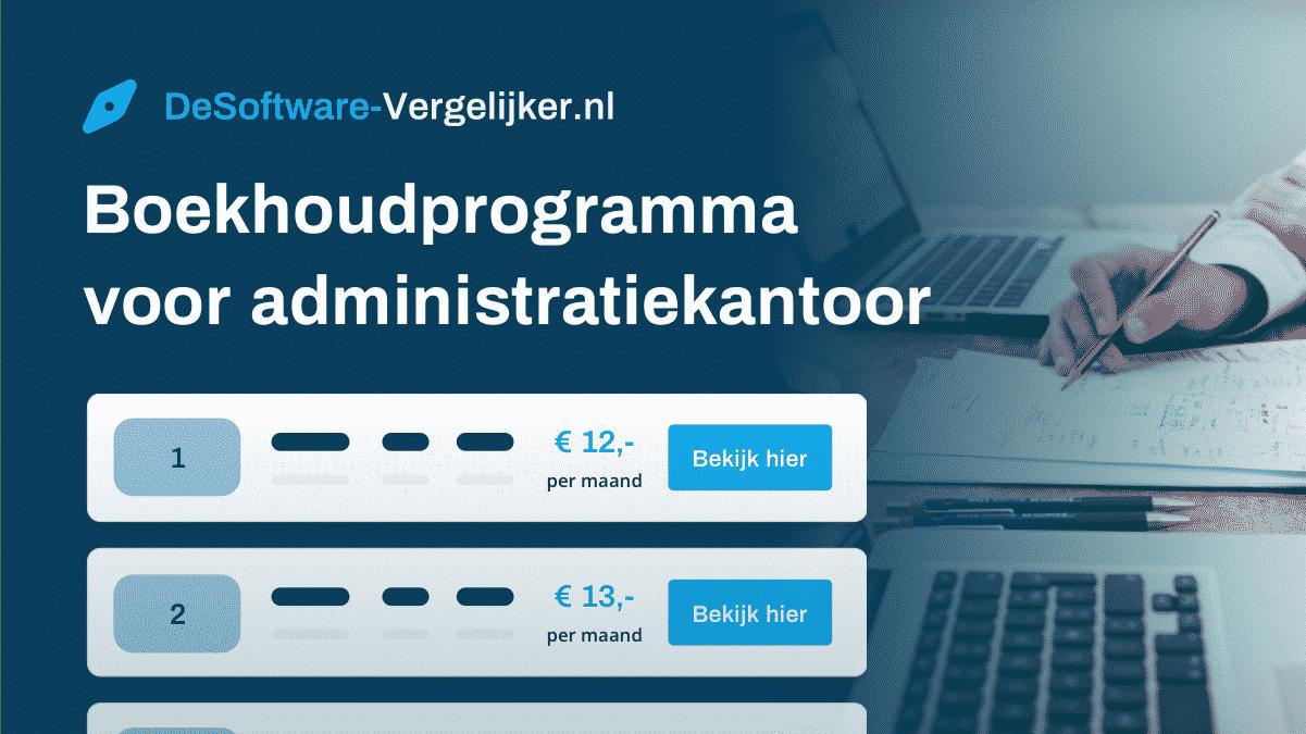 boekhoudprogramma voor administratiekantoor
