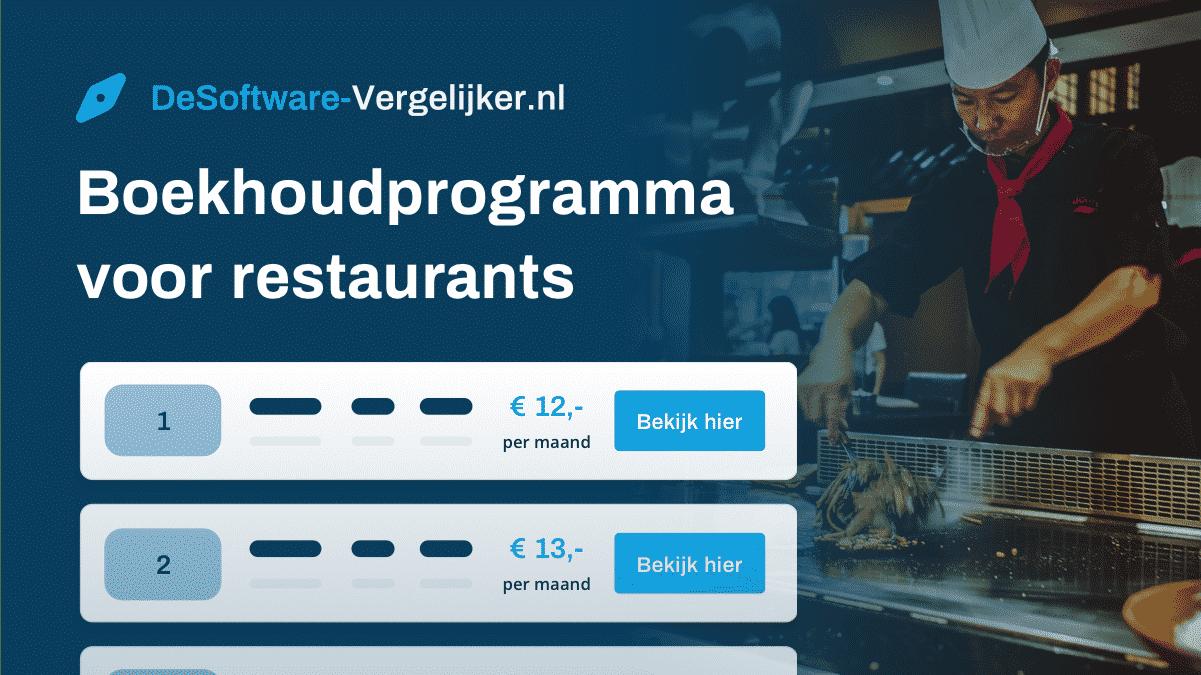 boekhoudprogramma voor restaurants