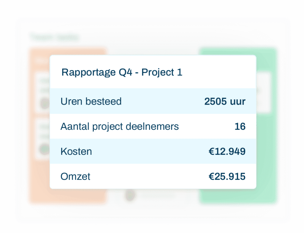 Project rapportages opstellen