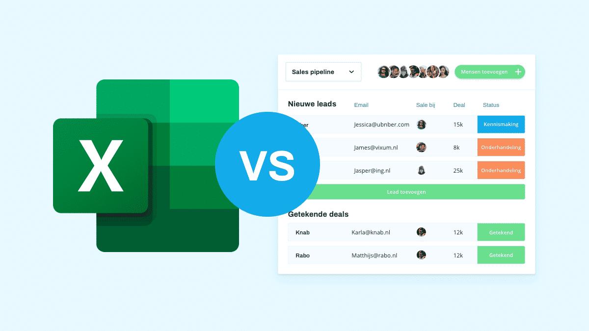 CRM of Excel? De beste tool om klantrelaties te beheren